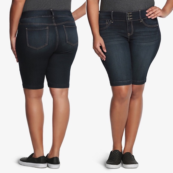 62dfa07404 torrid Shorts | Nwt Dark Wash Jegging Bermuda Denim | Poshmark